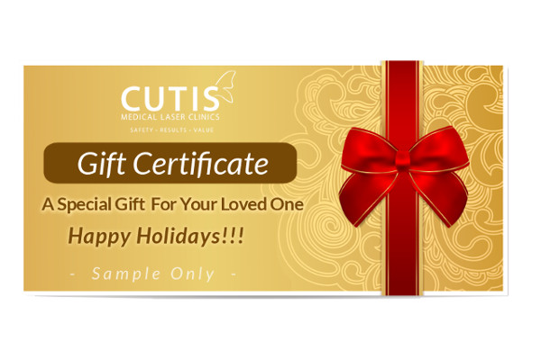 Give the Gift of Health and Beauty with Cutis Gift Certificate