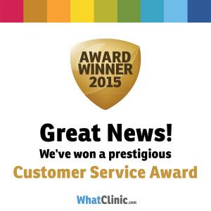 Cutis Wins WhatClinic's Best Customer Service Award 2015